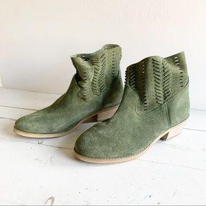 New ~ Green Suede Booties